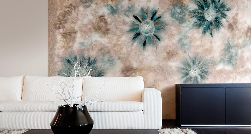 nuno silk feature wall