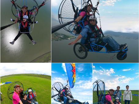 車椅子パラグライダーはMPG琵琶湖