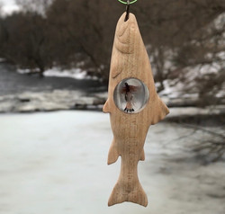 Trout Pendant With Fly