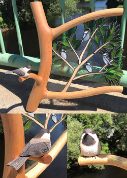 Chickadee/Stained Glass (available)