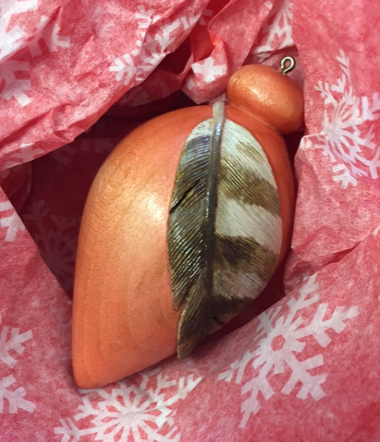 Hawk Feather Ornament (sold)