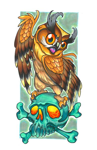 skull owl 2018