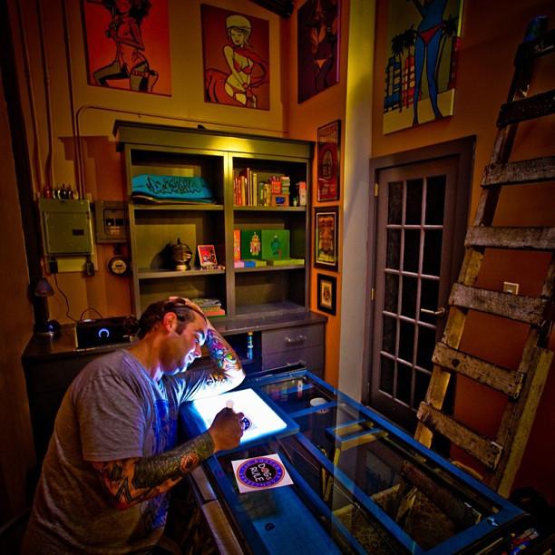 _diskophatboy at his studio..jpg