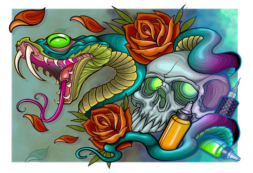 snake skull2020