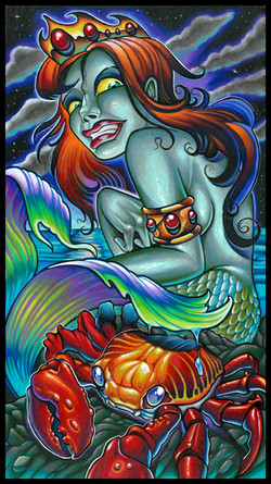mermaid with crab 2016