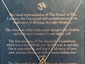 3 FREE Om pyramid Necklaces