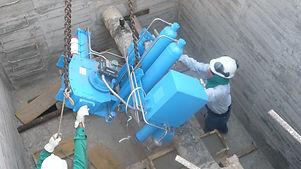 Acoplamiento en sitio de actuador gas sobre aceite Ledeen