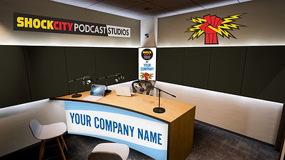 Podcast recording studio in St. Louis, Missoui