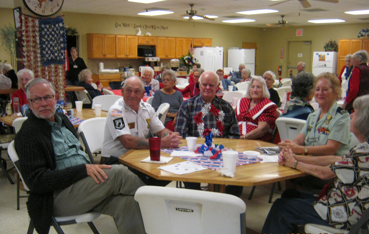Members celebrating Veterans Day
