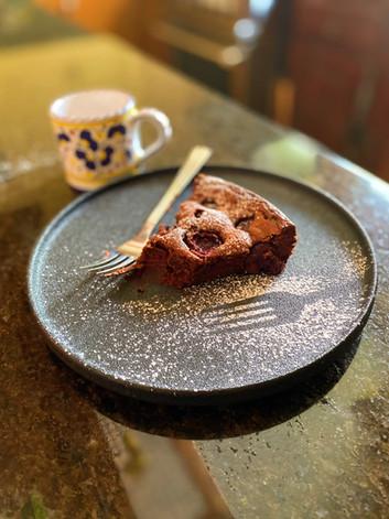Caprese chocolat et cerises