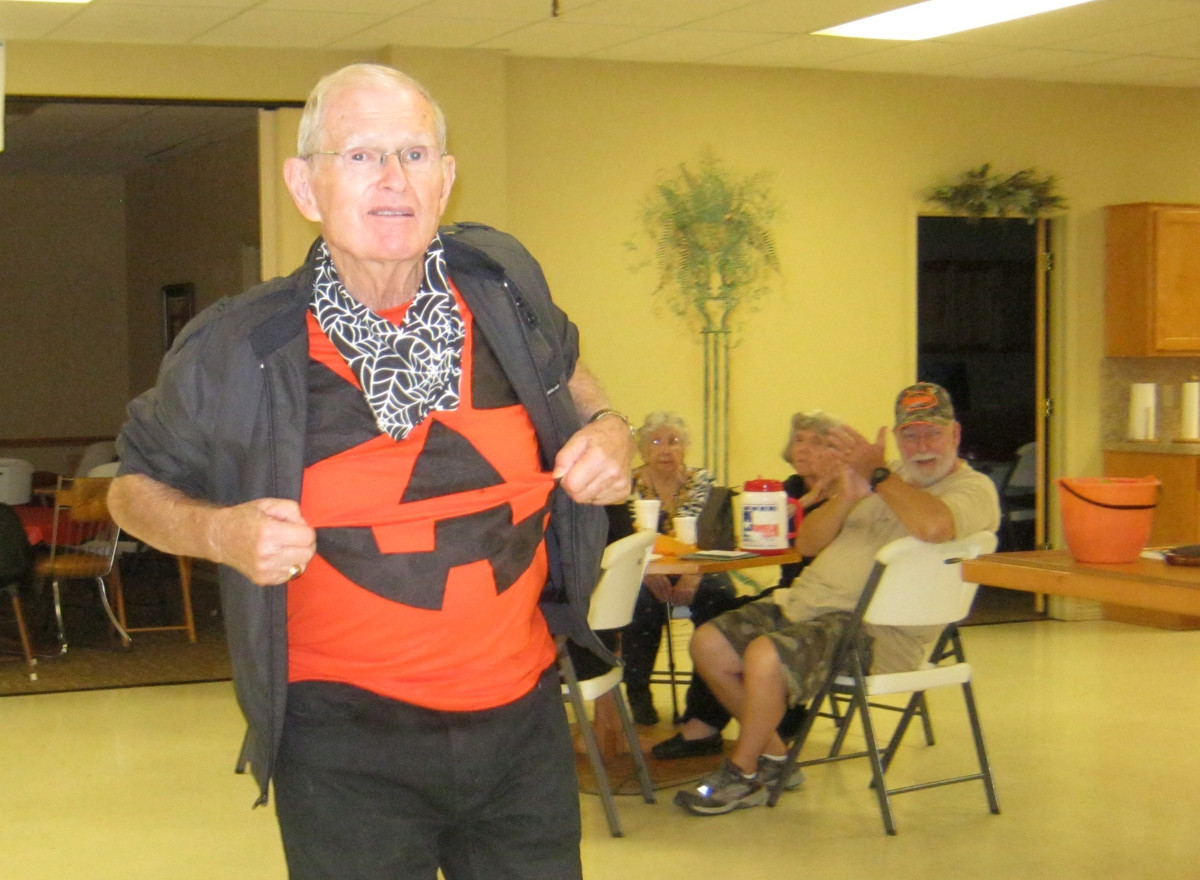 Don James at Halloween party