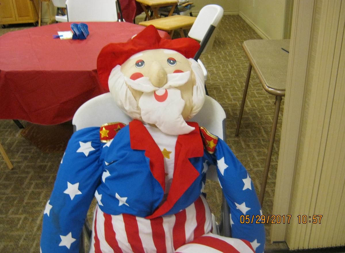 Uncle Sam at 4th of July celebration