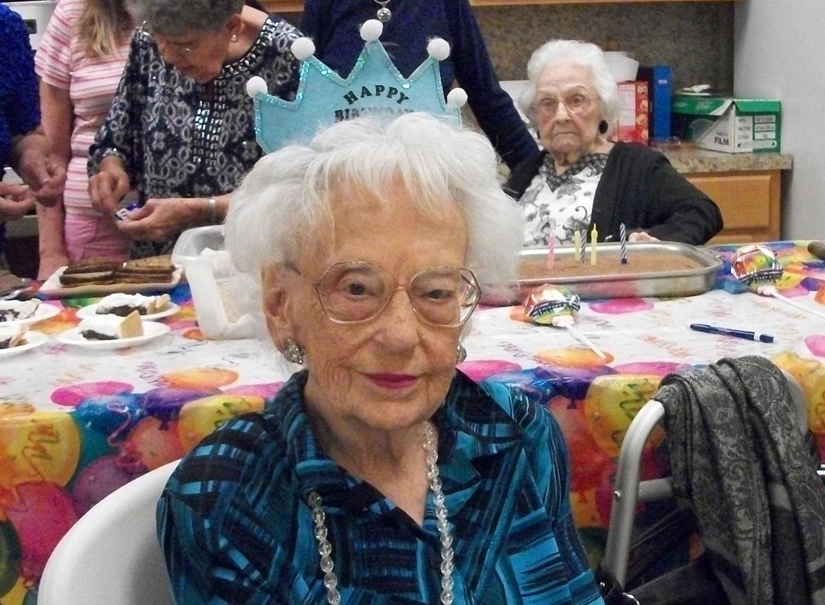 Carol  celebrating her 100th birthday