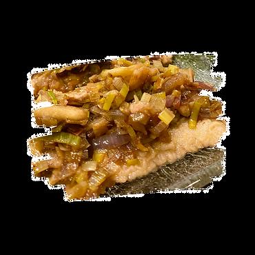 Escalopes porc poireaux et balsamique