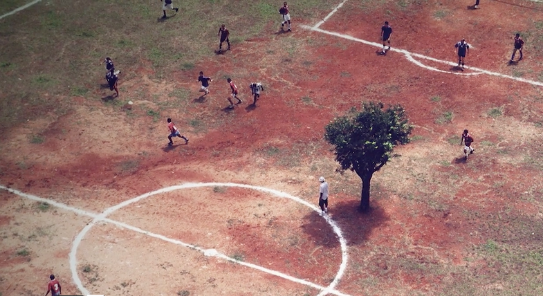 """Brahma's film presents the history of a tree in the middle of a football pitch"". G1"