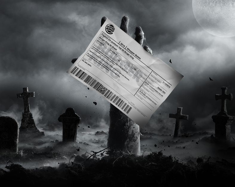 """Burger King's Halloween gift is disguised as your worst horror: a utility bill"" AD AGE"
