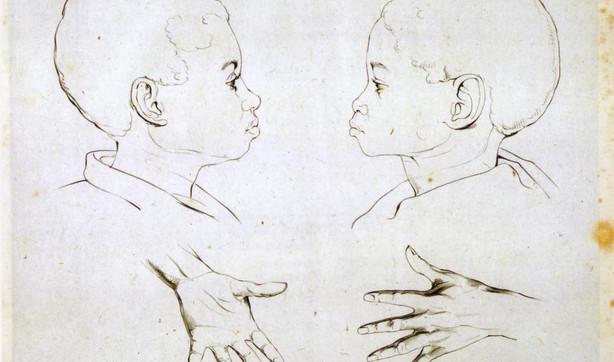 Tekening van Kwasi en Kwame