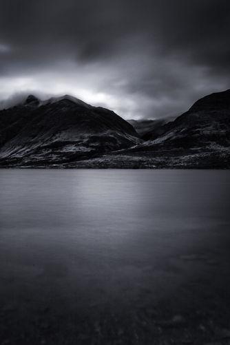 North Mavora Lake Black and White 3351-1