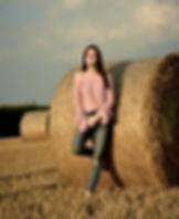 Lisa auf dem Feld.