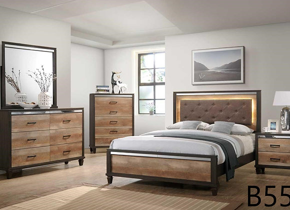 BROWN AND CAPPUCCINO BED