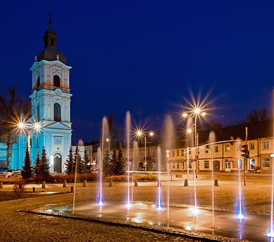 Fontanna na Placu Jana Pawła II w Ozorko