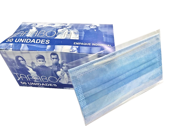 Tapabocas uso civil Azul