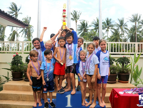 Samui's International Schools come together for a swim meet hosted by ISS.