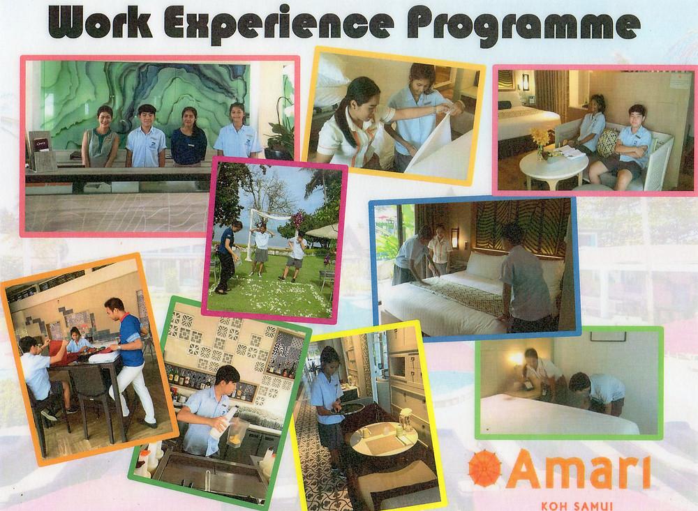Photos taken by Amari Resort during our senior school students' work experience week in 2017.