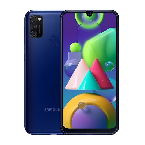 "Смартфон Samsung Galaxy M21: 6.4"" 4/64GB BLUE СИНИЙ 6000mAh"