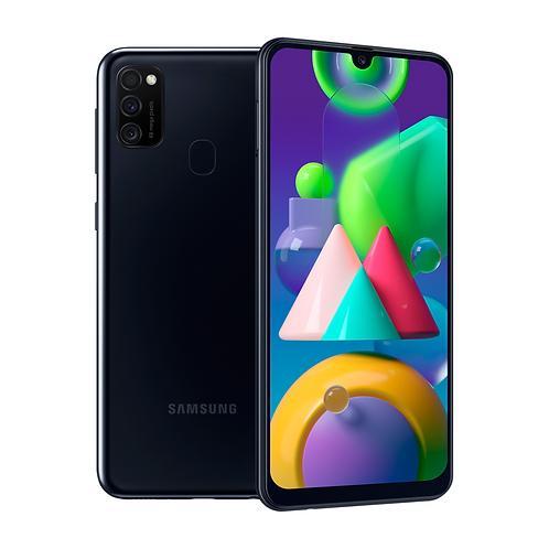 "Смартфон Samsung Galaxy M21: 6.4"" 4/64GB BLACK ЧЁРНЫЙ  6000mAh"