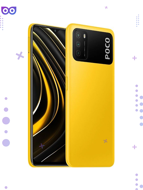 Смартфон Poco M3 4/64GB, ЖЕЛТЫЙ 6000мАч