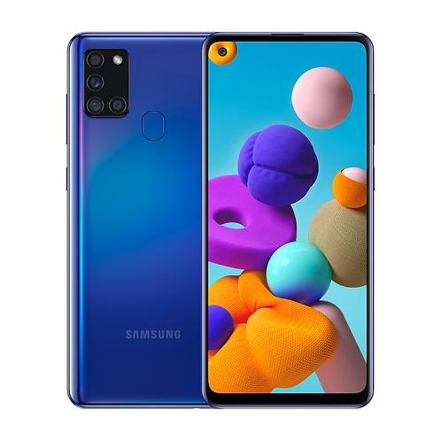 "Смартфон Samsung Galaxy A21s 6.5 "" 4/64Gb Blue СИНИЙ 5000 mAh"