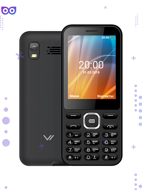 Телефон и Powerbank в одном флаконе Vertex D525 3200 мАч