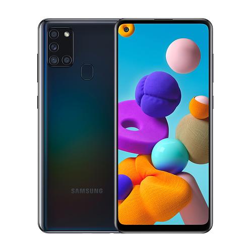 "Смартфон Samsung Galaxy A21s 6.5 "" 4/64Gb Black ЧЕРНЫЙ 5000 mAh"