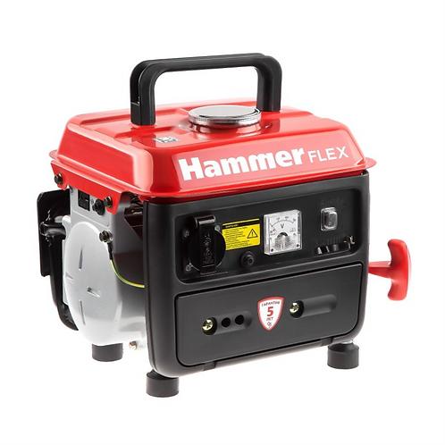 Бензиновый генератор Hammer Flex GN800 0,8КВт 220В 50Гц бак 4,5л непр. 6ч