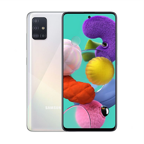 СМАРТФОН SAMSUNG Galaxy A51 4Gb/64Gb  БЕЛЫЙ 4000 mAh