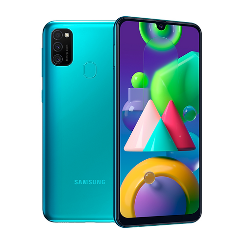 "Смартфон Samsung Galaxy M21: 6.4"" 4/64GB БИРЮЗОВЫЙ 6000mAh"