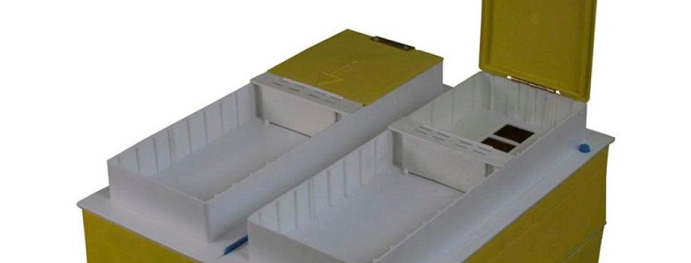 kit 2 nourrisseurs ruchettes ruche plastique Technoset