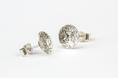 Moon Stud Earrings - Polished