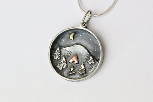 Camping Scene Necklace