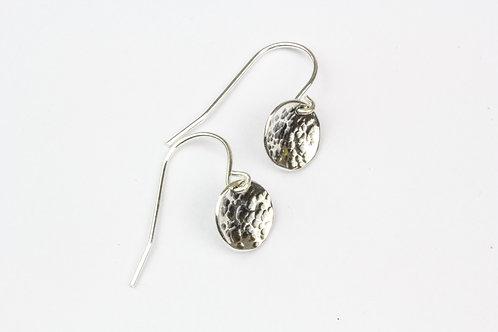 Moon Hanging Earrings - Oxidised