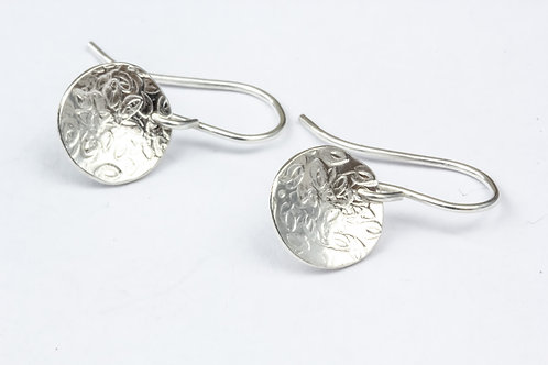 Classic Patterned Domed Earrings