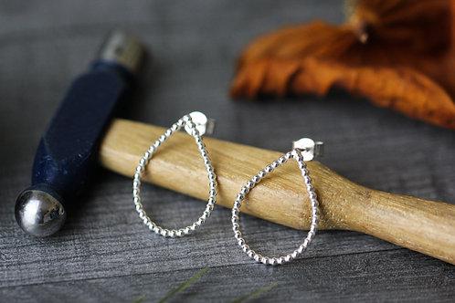 Sterling Silver beaded teardrop earrings