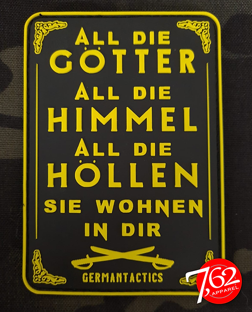 """""""ALL DIE GÖTTER 4"""" Rubber-Patch"""