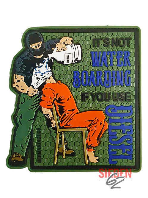 """""""WATERBOARDING"""" Rubber-Patch"""