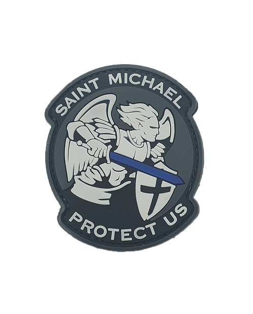 """SAINT MICHAEL - PROTECT US"" Patch"