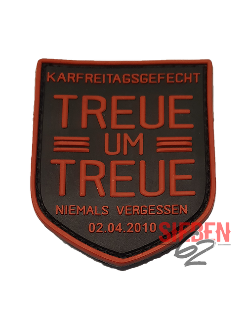 """TREUE UM TREUE 2"" Rubber-Patch"