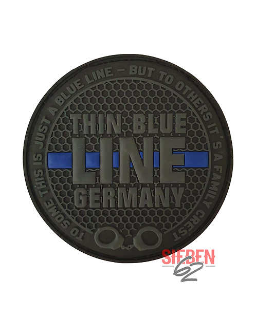 """THIN BLUE LINE GERMANY"" Rubber-Patch"