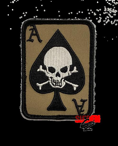 """DEATH DEALER CARD"" Stoff-Patch"