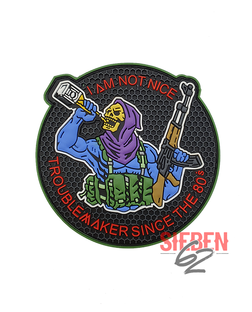 """""""I AM NOT NICE"""" Rubber Patch"""
